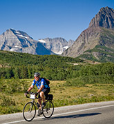 Glacier and Waterton Lakes biking photo